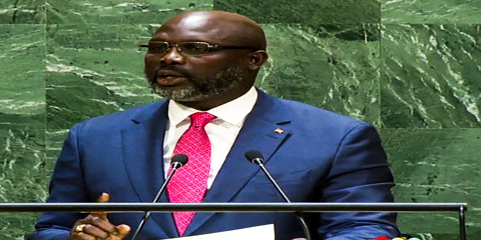 His Excellency Dr. George Manneh addresses the 74th Session of the United Nations General Assembly