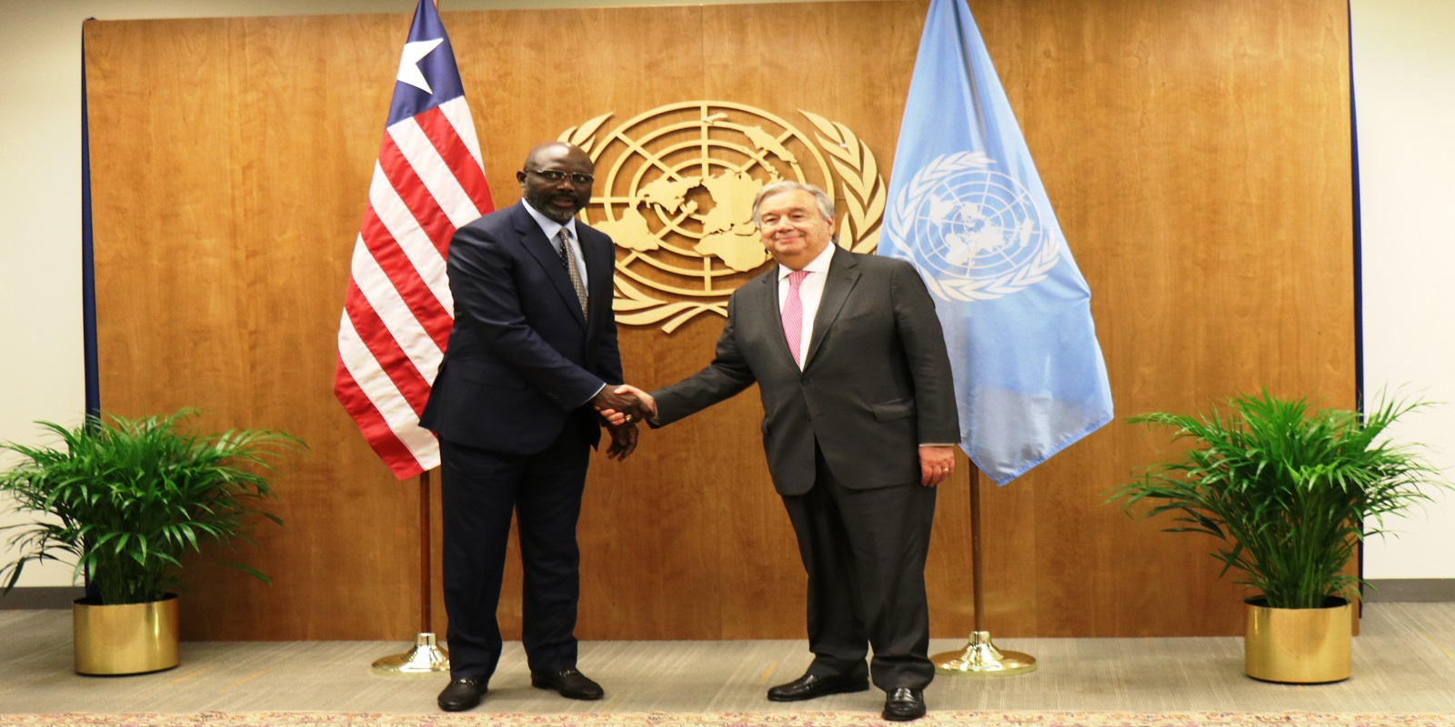 H.E. President Weah and UN Secretary-General Guterres commit to sustenance of peace in Liberia